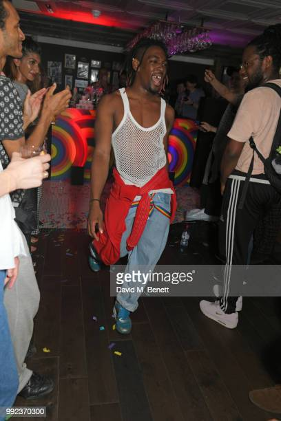 Jay Jay Revlon performs at Kiehl's 'We Are Proud' party to celebrate Pride on July 5 2018 in London England