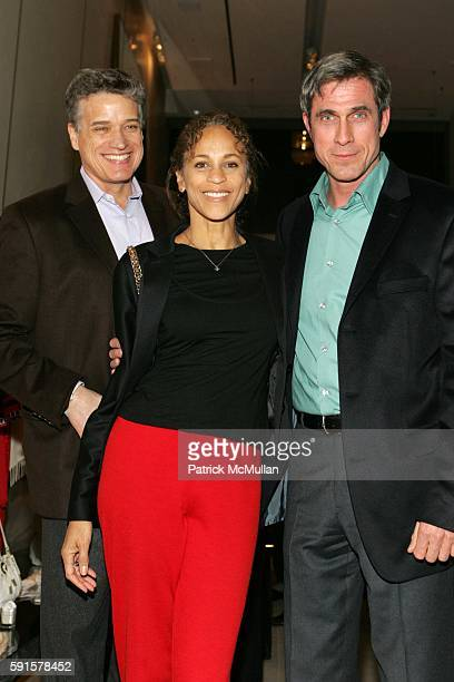 Jay Johnson Alva Chinn and Tom Cashin attend A Celebration of Jed Johnson's Work and the Publication of His Book Opulent Restraint at Donna Karan...