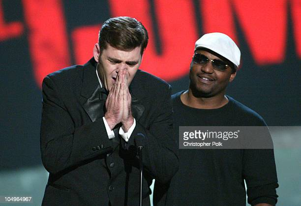 Jay Johnson winner of Best Direction in a Diarrheha Commercial with presenter Aries Spears