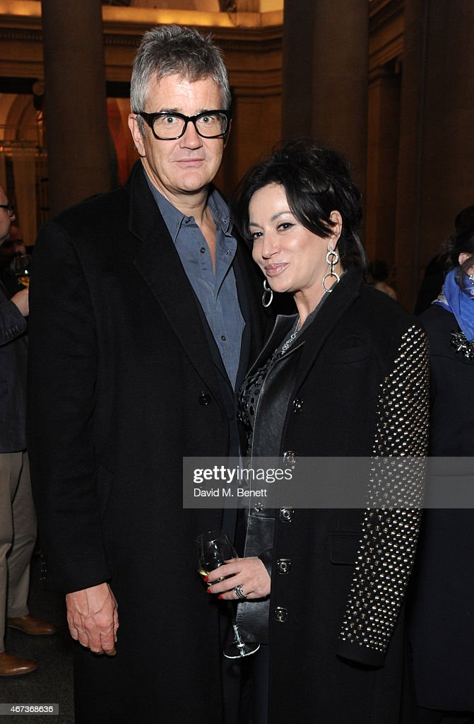 Jay Joplin and Nancy Dell'Olio attends a private view of 'Nick Waplington/Alexander McQueen: Working Progress' at the Tate Britain on March 23, 2015 in London, England.