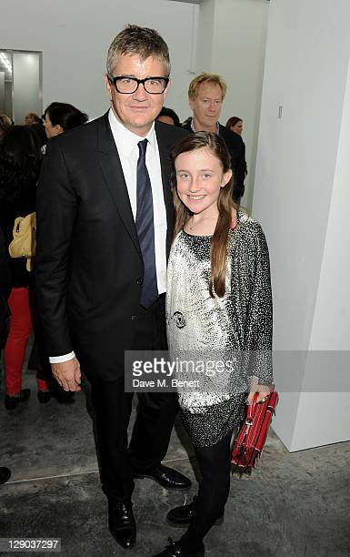 Jay Jopling and Angelica Jopling attend the opening of the new White Cube Bermondsey gallery on October 11 2011 in London England