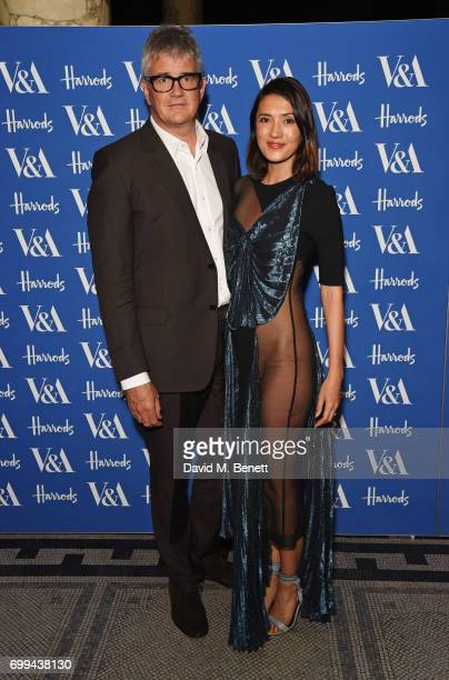 Jay Jopling and Hikari Yokoyama attend the 2017 annual VA Summer Party in partnership with Harrods at the Victoria and Albert Museum on June 21 2017...