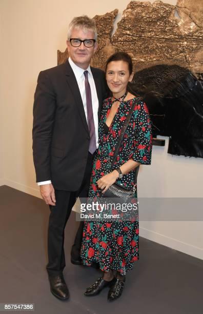 Jay Jopling and Hikari Yokoyama attend the Frieze Art Fair 2017 VIP Preview in Regent's Park on October 4 2017 in London England