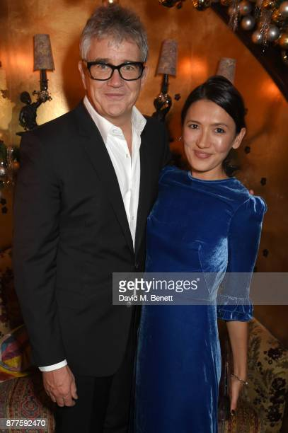 Jay Jopling and Hikari Yokoyama attend the Nick Cave The Bad Seeds x The Vampires Wife x Matchesfashioncom party at Loulou's on November 22 2017 in...