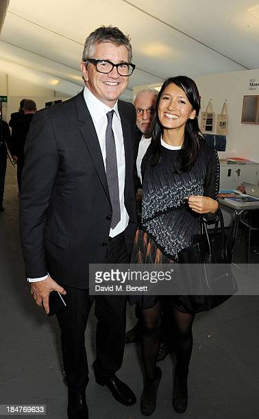 Jay Jopling and Hikari Yokoyama attend the VIP preview of the annual Frieze Art Fair in Regent's Park on October 16 2013 in London England