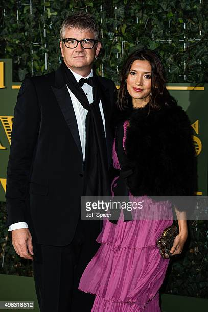 Jay Jopling and Hikari Yokoyamo attend the Evening Standard Theatre Awards at The Old Vic Theatre on November 22 2015 in London England