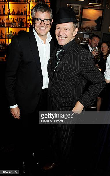 Jay Jopling and Paul Simonon attend the London EDITION and NOWNESS dinner to celebrate ON COLLABORATION on October 14 2013 in London England