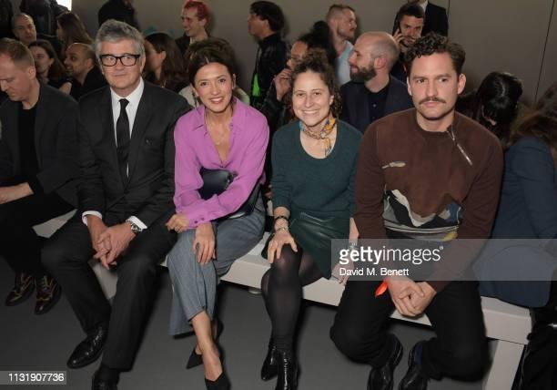 Jay Jopling Hikari Yokoyama Hermes Group Communication Director Charlotte David and Ben Aldridge attend 'Hermes Step Into The Frame' at Nine Elms on...