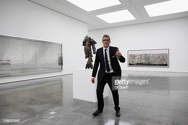 Jay Jopling owner of the White Cube galleries poses for a photograph in the new White Cube gallery in Bermondsey on October 11 2011 in London England...