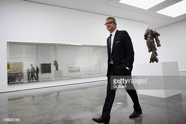 Jay Jopling owner of the White Cube galleries walks through the new White Cube gallery in Bermondsey on October 11 2011 in London England The third...