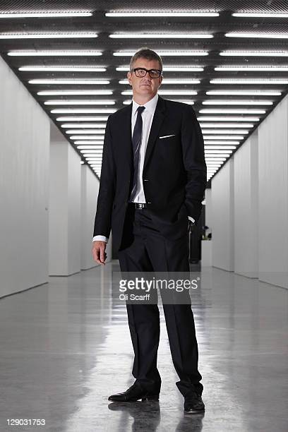 Jay Jopling the owner of the White Cube galleries poses for a photograph in the new White Cube gallery in Bermondsey on October 11 2011 in London...