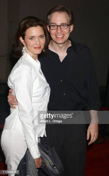"""Jay Karnes and wife Julia during """"The Shield"""": Season Three Premiere Screening at The Zanuck Theater in West Los Angeles, California, United States."""