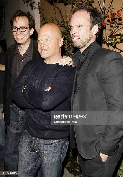 Jay Karnes Michael Chiklis and Walton Goggins during 'The Shield' Season 6 Premiere and Season 5 DVD Launch Party Red Carpet at Cabana Club in...