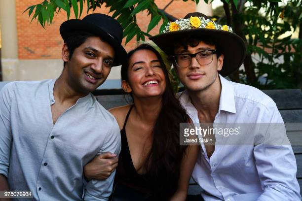 Jay Karthik Raj Put and Willy Montana attend the 2018 High Line Hat Party at the The High Line on June 14 2018 in New York City