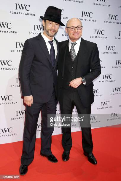 Jay Kay and Georges Kern attend the IWC Schaffhausen Race Night event during the Salon International de la Haute Horlogerie 2013 at Palexpo on...