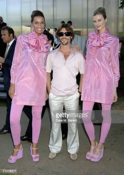 Jay Kay and models attend The Serpentine Gallery Summer Party at the Serpentine Gallery on July 11 2006 in London England