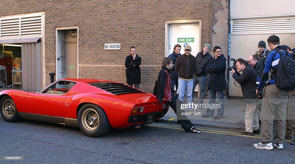 Jay Kay Breaks Down In His Lamborghini Miura In London'S Kings Road