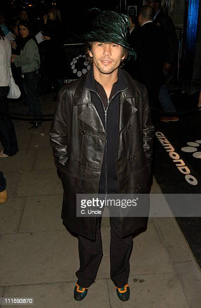 Jay Kay during Gizmondo Launch Party Arrivals at Sheraton Park Lane Hotel in London Great Britain