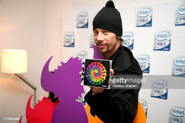 Jay Kay during Jay Kay Intel Promotion Launch Photocall at PC World Tottenham Court Road in London Great Britain