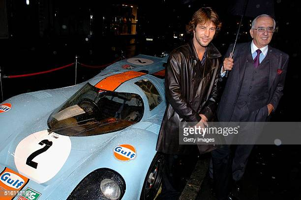 Jay Kay from Jamiroquai and Tag Heuer Chairman Jack Heuer attend the private view for Carrera 1964 2004 40 Years Of Legend at the Getty Images...