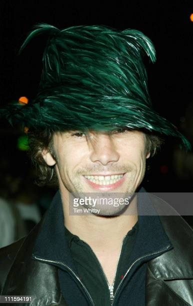Jay Kay of Jamiroquai during Gizmondo MultiMedia Handheld Launch Party Arrivals at Park Lane Hotel in London United Kingdom