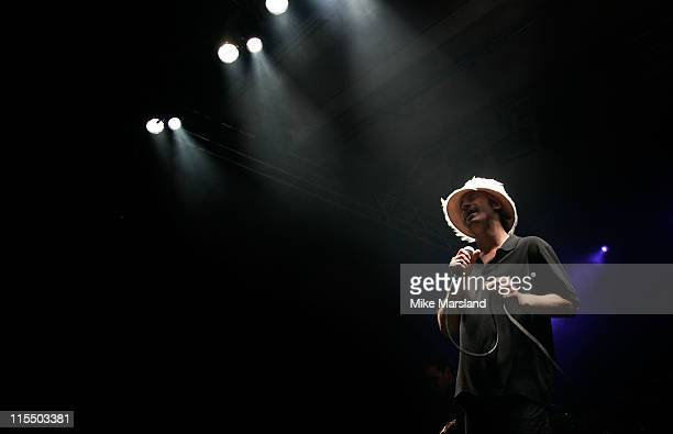 Jay Kay of Jamiroquai during Gizmondo MultiMedia Handheld Launch Party Show at Park Lane Hotel in London United Kingdom