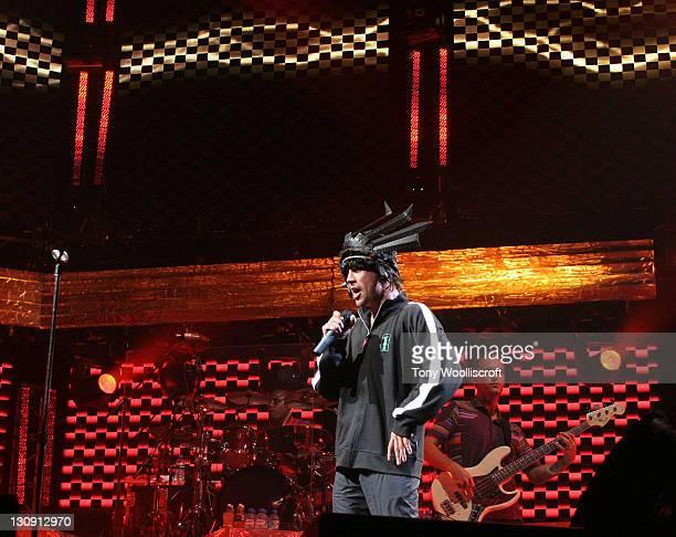 Jay Kay of Jamiroquai during Jamiroquai in Concert at the Birmingham NEC Arena - September 7, 2005 at Birmingham NEC Arena in Birmingham, Great...