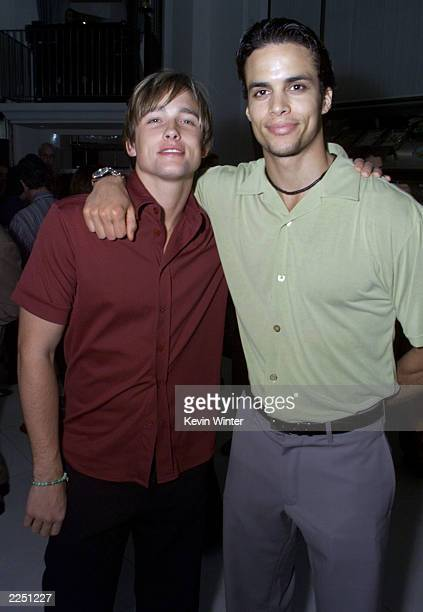 Jay Kenneth Johnson and Matt Cedeno at the premiere of 'Final Fantasy: The Spirits Within' at the Bruin Theater in Los Angeles, Ca. 7/2/01. Photo by...