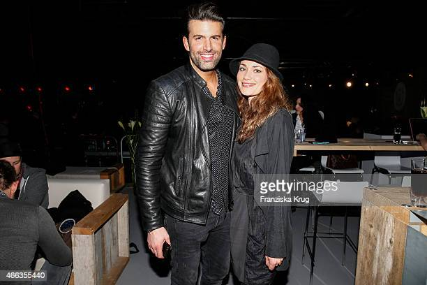 Jay Khan and Sarah Maria Besgen attend the Spirit of Istanbul by Yeni Raki on March 14 2015 in Berlin Germany