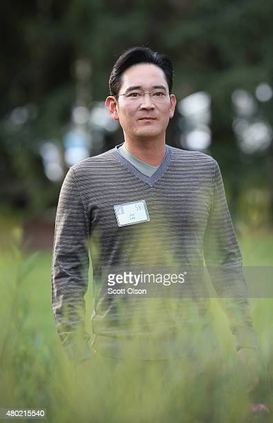 Jay Lee president and chief executive officer of Samsung Electronics attends the Allen Company Sun Valley Conference on July 10 2015 in Sun Valley...