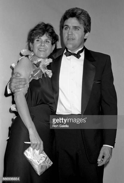 Jay Leno and Mavis Leno attend 39th Annual Primetime Emmy Awards on September 20 1987 at the Pasadena Civic Auditorium in Pasadena California