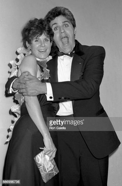 Jay Leno and Mavis Leno attend 39th Annual Primetime Emmy Awards on September 20 1987 at the Pasadena Civic Auditorium in Pasadena California