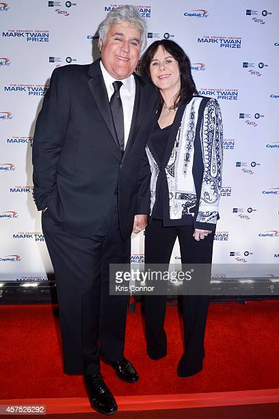 Jay Leno and Mavis Leno walks the red carpet during the 2014 Kennedy Center's Mark Twain Prize For Americacn Humor at The John F Kennedy Center for...
