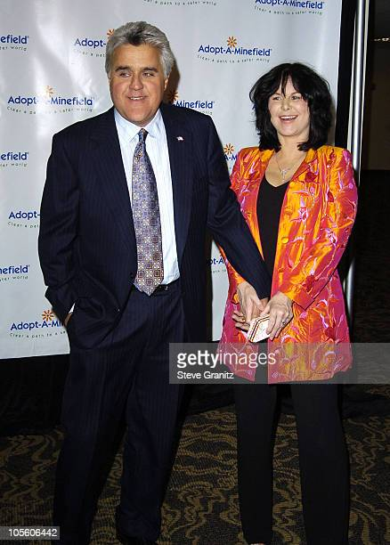 Jay Leno and Wife Mavis during 4th Annual AdoptAMinefield Gala at Century Plaza Hotel in Century City California United States