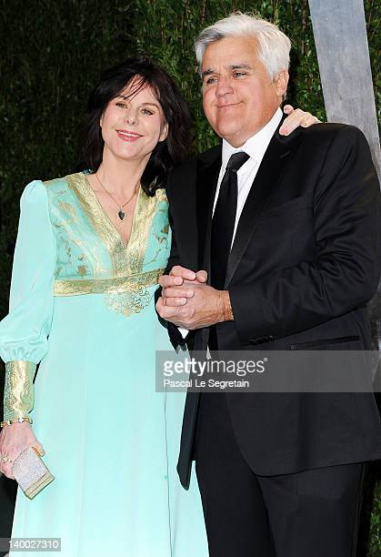 Jay Leno and wife Mavis Leno arrive at the 2012 Vanity Fair Oscar Party hosted by Graydon Carter at Sunset Tower on February 26 2012 in West...