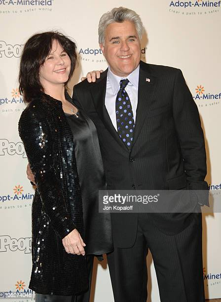 Jay Leno and wife Mavis Leno during Fifth Annual AdoptAMinefield at Beverly Hilton Hotel in Los Angeles California United States