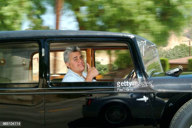Jay Leno at the wheel of his 1931 Straight 8 Bentley he is an American Television personality who hosted the late night NBC 'Tonight Show' collects...