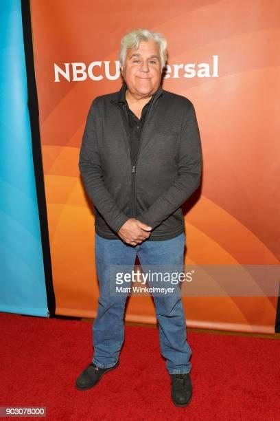 Jay Leno attends the 2018 NBCUniversal Winter Press Tour at The Langham Huntington Pasadena on January 9 2018 in Pasadena California