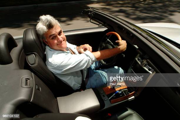Jay Leno driving a 2004 Cadillac XLR which he road tested for an English newspaper American Television personality Jay Leno who hosted the late night...