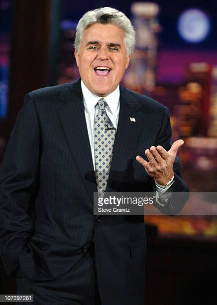 Jay Leno during Paris Hilton and Kathy Hilton Visit 'The Tonight Show with Jay Leno' June 15 2005 at NBC Studios in Burbank California United States