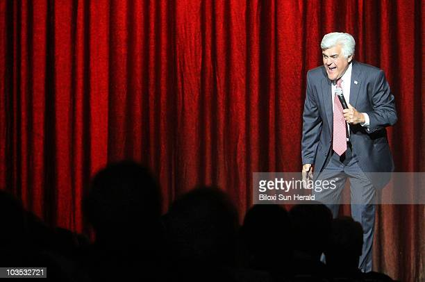 Jay Leno takes the stage to raise money for the Gulf Coast Community Foundation's newlydeveloped Mississippi Oil Spill Recovery Fund during the Jay...