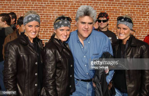 Jay Leno The Dahm Triplets during Love Ride 19 at Glendale Harley Davidson in Glendale California United States