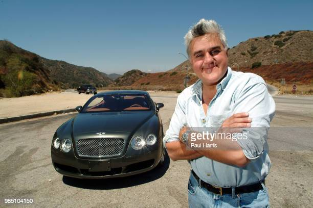Jay Leno with a 2004 Bentley S2 coupe American Television personality Jay Leno who hosted the late night NBC 'Tonight Show' collects cars In 3...