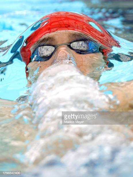 Jay Litherland competes in the Men's 400 Meter IM heat on Day Two of the TYR Pro Swim Series at San Antonio on January 15, 2021 in San Antonio, Texas.