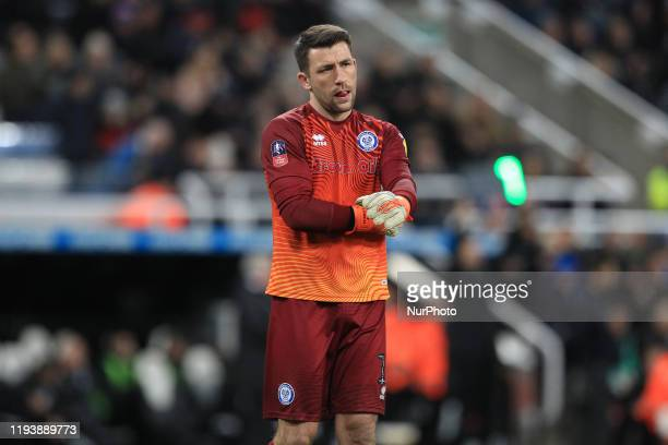 Jay Lynch of Rochdale during the FA Cup match between Newcastle United and Rochdale at St James's Park Newcastle on Tuesday 14th January 2020