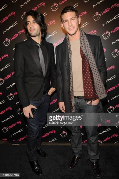 Jay Lyon Adam Senn attend MAC Cosmetics and V Magazine Celebrate the Launch of MAC Hello Kitty Collection at Cedar Lake on February 5 2009 in New...