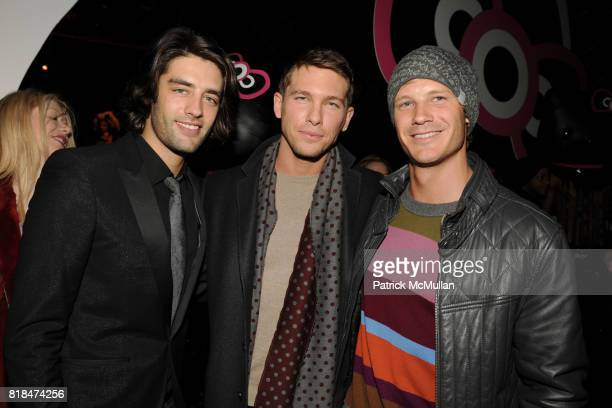 Jay Lyon Adam Senn Johnny Beyer attend MAC Cosmetics and V Magazine Celebrate the Launch of MAC Hello Kitty Collection at Cedar Lake on February 5...