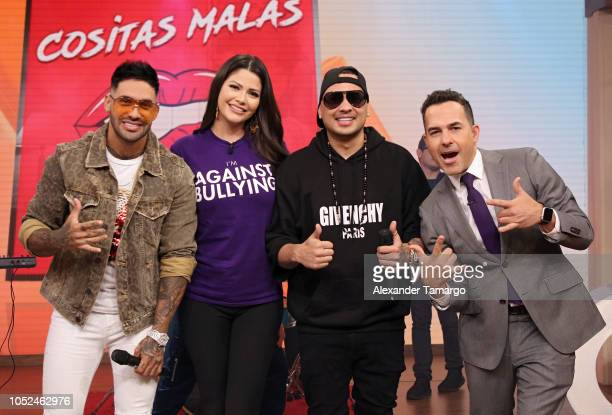 Jay Maly Ana Patricia Gamez Jacob Forever and Carlos Calderon are seen on the set of 'Despierta America' at Univision Studios on October 18 2018 in...