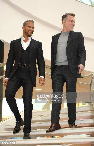 Jay Manuel and David Miskin attend Jay Manuel Beauty Grand Opening at Roosevelt Field Mall on November 16 2017 in Garden City City