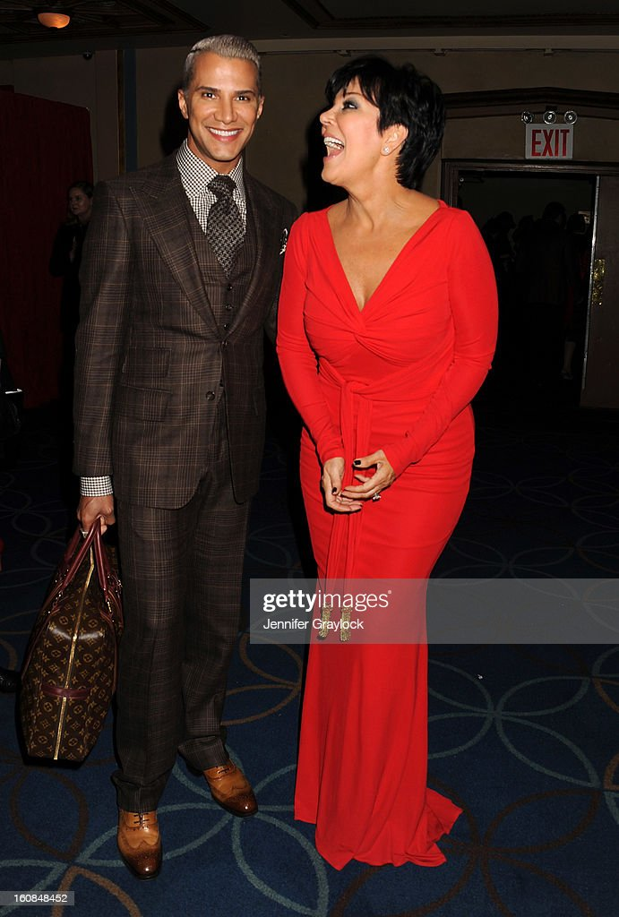 Jay Manuel and Kris Jenner attend The Heart Truth 2013 Fashion at Hammerstein Ballroom on February 6, 2013 in New York City.